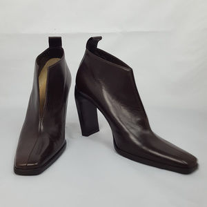 Gucci Brown Calf Leather Ankle Books  Size 6B